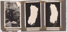 NN 3 Photos 1936 -PERROS GUIREC TRESTRIGNEL FRANCE La Grotte - Luoghi