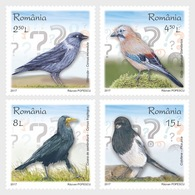 Romania Rumänien Delivery Within 4 Weeks MNH ** Ru 2017 - 4 Intelligent Birds - Ungebraucht