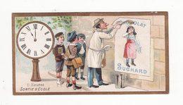 Chromo  CHOCOLAT SUCHARD    Horloge   11 Heures Sortie D'école     10.5 X 5.5 Cm - Suchard
