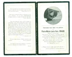 WO1 / WW1 - Doodsprentje Braun Pierre-Marie-Louis-Fern. - Sterrebeek / - Gesneuvelde - Piloot - Décès