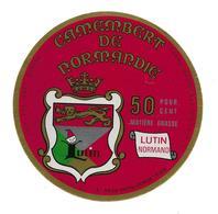 ETIQUETTE De FROMAGE .CAMEMBERT De NORMANDIE..LUTIN Normand..Ets Jules HUTIN à CONDE Sur SARTHE ( Orne 61) - Cheese