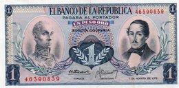 COLOMBIA 1 PESO ORO 1973 P-404e.5  UNC - Colombia
