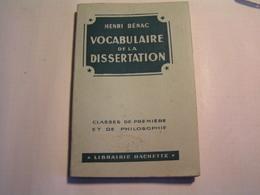 Livres > Français > Scolaires - Vocabulaire De La Dissertation - Seconde, Première Et Philosophie - Libros, Revistas, Cómics