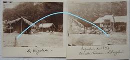 Photox2 TERVUREN Village Congolais CONGO Kongo Exposition Internationale 1897 Afrique Africa - Lieux