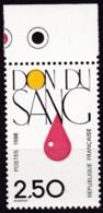 Frankreich, 1988, Mi.Nr. 2665, MNH **,  Le Don Du Sang. - Unused Stamps
