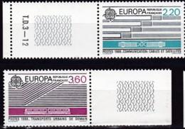 Frankreich, 1988, Mi.Nr. 2667/68, MNH **,  Europe : Moyens De Transport Et De Communication. - Unused Stamps