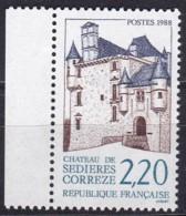 Frankreich, 1988, Mi.Nr. 2682, MNH **,  Tourisme : Château De Sédières - Unused Stamps