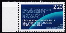 Frankreich, 1988, Mi.Nr. 2696, MNH **, Déclaration Des Droits De L'homme. - Unused Stamps