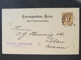 GANZSACHE Tarnopol - Löbau Franz Knödgen 1884 // D*43085 - Covers & Documents