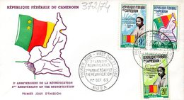 CAMEROUN 0372/74 Fdc Réunification, Président Ahidjo, Drapeau Et Carte - History