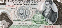 COLOMBIA 20 PESOS ORO 1983 P-409d.4  UNC. - Colombia
