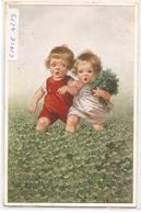 K 977 ,  OLD  FANTASY  POSTCARD  , CHILDREN , -FINE ART , PAINTINGS , Signed - Enfants