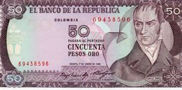 COLOMBIA 50 PESOS ORO 1985 P-425a.2  UNC - Colombia