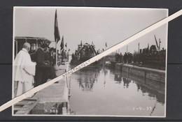 KWAADMECHELEN-SLUIS-ALBERTKANAAL-ZEGENING-BOOT-BINNENVAART-PENICHES-FOTO-1939-ZIE DE 2 SCANS-UNIEK ARCHIEFSTUK ! ! ! - Ham