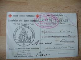 Hopital Auxiliaire 506 Rue Balzac Paris  Cachet Franchise Postale Militaire Guerre 14.18 - Guerre De 1914-18