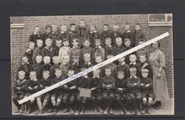 WINGENE-BERCHMANSSCHOOL-WYNGENE-3DE JAAR-ORIGINELE FOTO-1939+-46 JONGENS+1 JUFFROUW-ZIE DE 2 SCANS-UNIEK ARCHIEFSTUK ! - Wingene