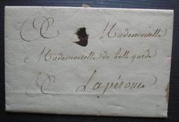 Tournon 1803 Lettre Intéressante Pour Mademoiselle De Belllegarde à Lapérouse - Marcophilie (Lettres)