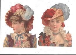 2 Découpi Portraits De Jeune Fille - Découpis