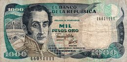 COLOMBIA 1000 PESOS ORO 1993 P-432Aa.3  CIRC.  SER.46051111 - Colombia