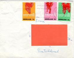 NL+ Niederlande 1970 Mi 948-50 Herzerkrankung - Covers & Documents
