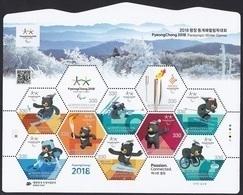 South Korea KPCC2607-16 2018 PyeongChang Winter Paralympics, Snowboard, Curling, Jeux Paralympiques, Full Sheet - Inverno 2018 : Pyeongchang