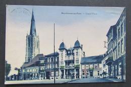 Carte Postale Charleroi Marchienne-au-Pont Grand Place Teint Bleul - Charleroi