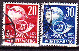 Franz. Zone - Württemberg 75 Jahre UPU (MiNr: 512) 1949 - Gest Used Obl - French Zone