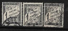 France   Taxe  N°  10   X 3 Oblitérés  B/TB   Soldé à Moins De 10 %  ! ! ! - 1859-1955 Used