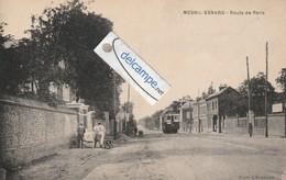 MESNIL-ESNARD : Route De Paris,Tramway,animée. édit Lélouard. - Zonder Classificatie