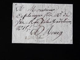 LETTRE DE AUMALE POUR ROUEN  -  1825  - - 1801-1848: Précurseurs XIX