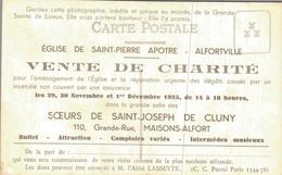 PUBLICITE VENTE DE CHARITE à MAISONS ALFORT En 1935 - SAINTE THERESE DE LISIEUX - Saints