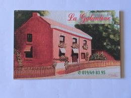 Carte De Visite Restaurant La Galantine Latinne Braives - Cartes De Visite