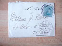1916 Lettre Obliteration Baarle Le Duc Pour Paris - 1915-1920 Albert I