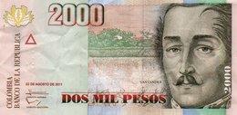 COLOMBIA 2000 PESOS  2011 P-457o  CIRC. - Colombia