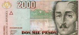 COLOMBIA 2000 PESOS  2009 P-457k  CIRC. - Colombia