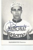 Cyclisme Photo Dedicacée Bahamontes Federico Equipe Margnat - Cyclisme