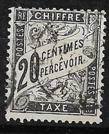 France   Taxe  N°  17    Oblitéré  B/TB      Soldé à Moins De 15 %  ! ! ! - 1859-1955 Used
