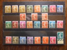 FRANCE Lot De Semeuses Fond Plein Cote 250 € Neufs Sans Charnière MNH - 1906-38 Semeuse Con Cameo