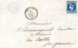 Côtes D'Armor - LAC Affr N° 29A (déf) Obl PCduGC 2880 C 22 Plemet - 1849-1876: Période Classique
