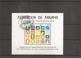 JO De Mexico - 1968 ( BF 103 Oblitéré Du Panama) - Verano 1968: México