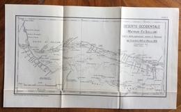 CARTINA MILITARE - EGITTO DESERTO OCCIDENTALE (MATRUH - ES SOLLUM) 1915/16 TEATRO OPERAZIONI CONTRO IL SENUSSO - Manoeuvres