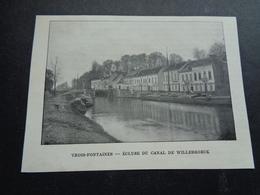 Origineel Knipsel ( 3277 ) Uit Tijdschrift  : Vilvorde   Vilvoorde -  Trois - Fontaines : Ecluse Du Canal De Willebroeck - Old Paper