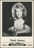 Debi Jones, BBC Radio Merseyside, C.1980s - Publicity Card - Advertising