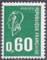 France Marianne De Béquet N° 1814 A ** Variété Le 60c Vert Typographie Sans Phosphore - 1971-76 Marianne (Béquet)