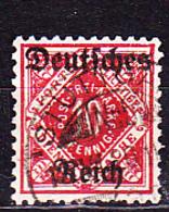 Deutsches Reich German Empire Empire Allemand - Dienstmarke/Service (Mi.Nr. 53) 1920 - Gest. Used Obl. - GEPRÜFT - Dienstzegels