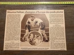 1935 M BOXE BOXEUR MAURICE HOLTZER TAMAGNINI - Vieux Papiers