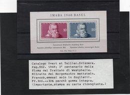IMABA 1948 BASEL - Carta Ricongiunta - SVIZZERA - Ongebruikt