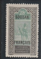 SOUDAN  Type Du Haut Niger De 1914-17 Surchargé - Nuovi