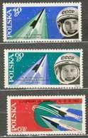 POLAND MNH ** 1281-1283 Espace Vostok V Et VI Valeri Bikovski Valentina Terechkova - Unused Stamps