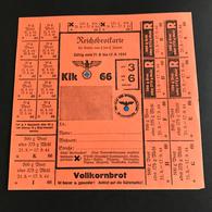 •• NEW •• REICHSBROTKARTE Luxemburg Luxembourg 1944 Vollkornbrot Bestzung 2. Wk Weltkrieg Ww2 - 1940-1944 Occupation Allemande